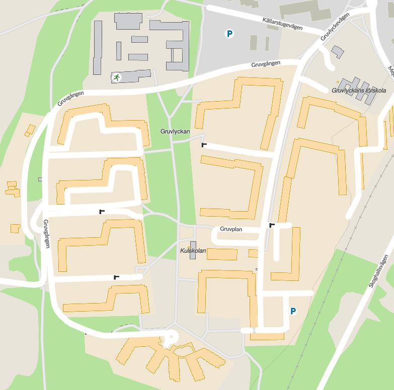 Karta över Gruvlyckan